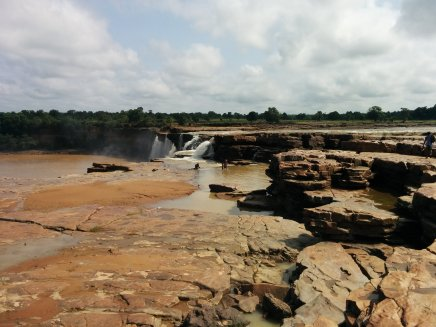 Sighting the Chitrakote Falls.